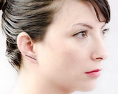 Thin Bar Earring - Staple Earrings - Bridesmaid Gift - Bar Ear Climber - Line Earrings - Ear Pins - Dainty Earrings - ECF011