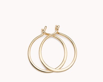 Gold Hoop Earrings - Tiny Hoop Earrings - Silver Hoop earrings - Sleeper Earrings - Huggie Earrings -Unique Earrings -  EAR002