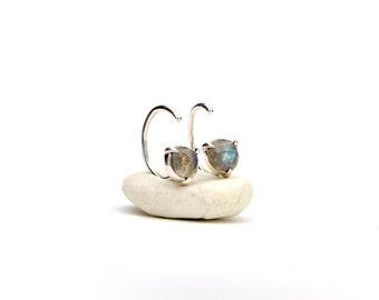 Gold Huggie  Earrings - Gold Hoop Earrings - Unique Earrings - Handmade Jewelry - Dainty Earrings - EAR031LBR