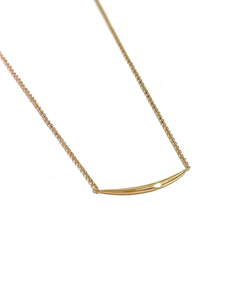 Dainty Moon Necklace  Moon Bar Necklace  Layering Necklace  image 0