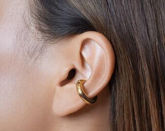 Silver Chunky Single Ear Cuff - Trendy Ear Climber- Birthday Gift- Punk Earrings- Gift for Sister- ECF021