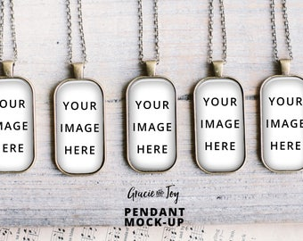 Download Free Large Domino Pendant Product Mockup, Antique Bronze Jewelry, template,jewelry photography,charm mockup,necklace mockup, Cabochon Printable PSD Template