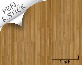 Quarter Scale Flooring -Peel and Stick-Oak Flooring