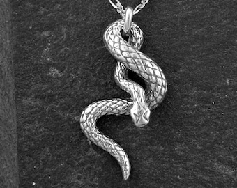 Sterling Silver Snake Pendant on a Sterling Silver Chain