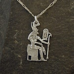 Sterling Silver Horus Egyptian God Pendant on a Sterling Silver Chain