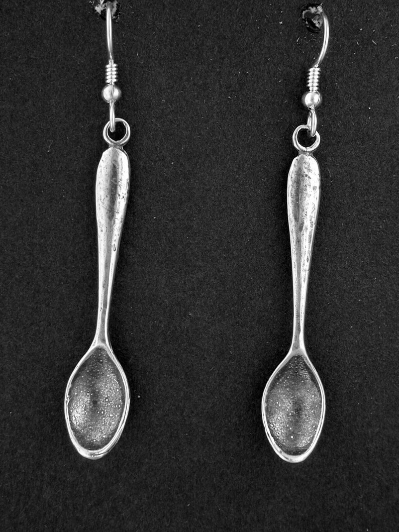 Sterling Silver Spoon Earrings on Heavy Sterling Silver French Wires