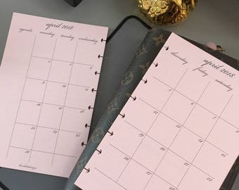 Simply Chic Agenda . 2018 Monthly Dated