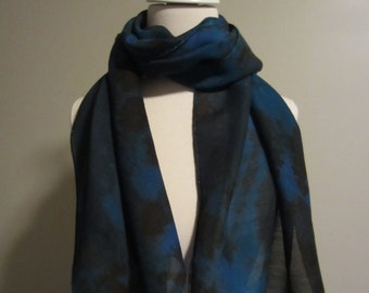 Hand Dyed Silk / Wool Blend Scarf