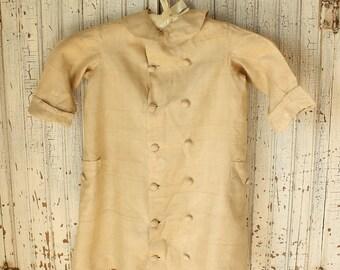 Antique Silk Boy's Child's Tunic Dress