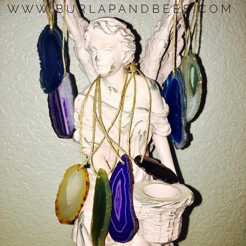 Mini agate ornament or pendant