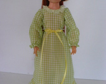 Ideal Crissy Long Green Check Gown