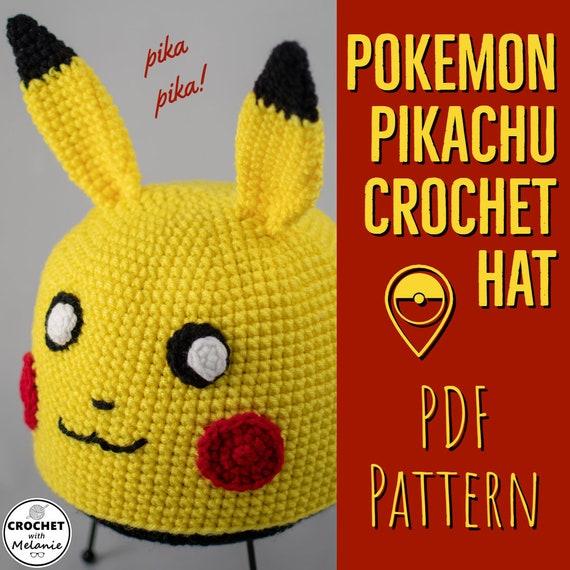 Pikachu Hat Crochet Pdf Pattern Etsy