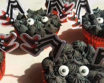 HALLOWEEN SPIDER BaTH CuPCAKE! Custom BaTH BoMB PaRtY FaVoR - Trick Or Treat, Party, Creepy, Gift, Birthday Custom From My Shower To Yours