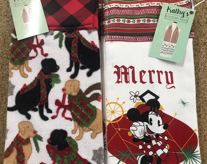 Boa bundle sale/Boas/Kitchen scarves/Kitchen Boas /Christmas /Sale on Boas/Gifts/Handmade kitchen Boas/SewMammaSew Boas