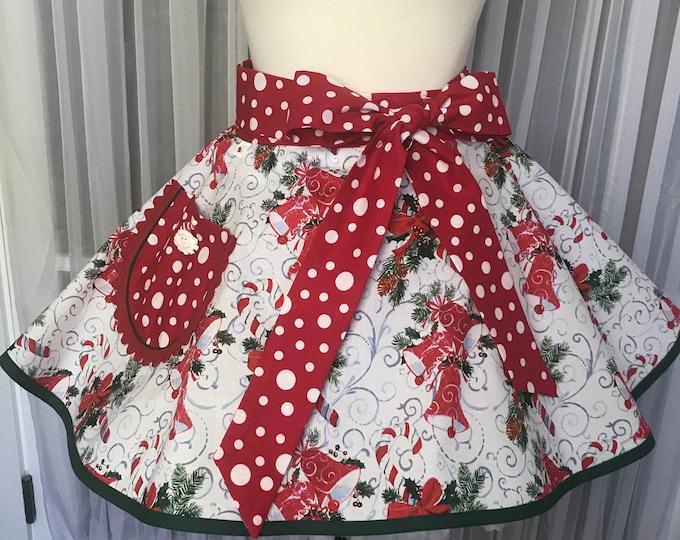 Xmas half apron /Half apron /SewMammaSew half apron /Women's Apron /Women's Xmas half apron /Xmas gift apron /Xmas print half apron / Apron