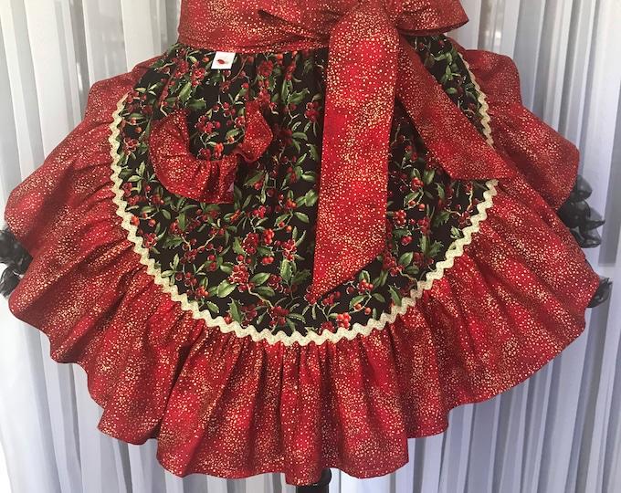 Christmas apron /Half apron /Xmas half apron /SewMammaSew Xmas apron /Gift Apron /Xmas apron /Hostess Apron