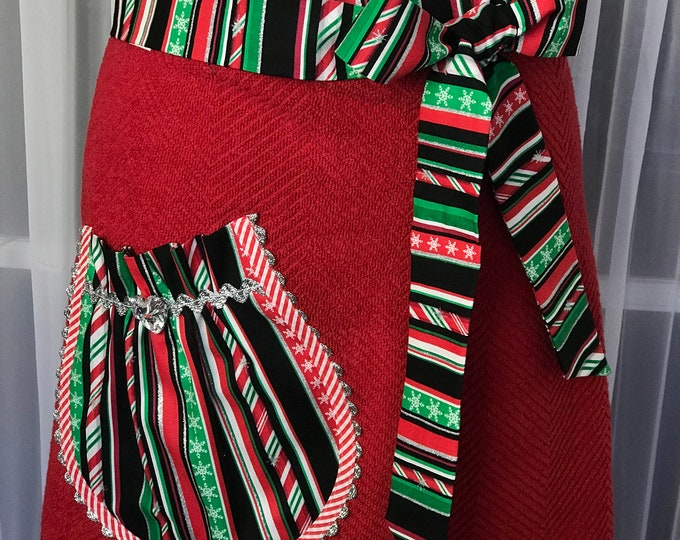 Christmas half apron Towel half apron SewMammaSew half apron Gift apron Hostess apron Apron made of towel  Christmas apron