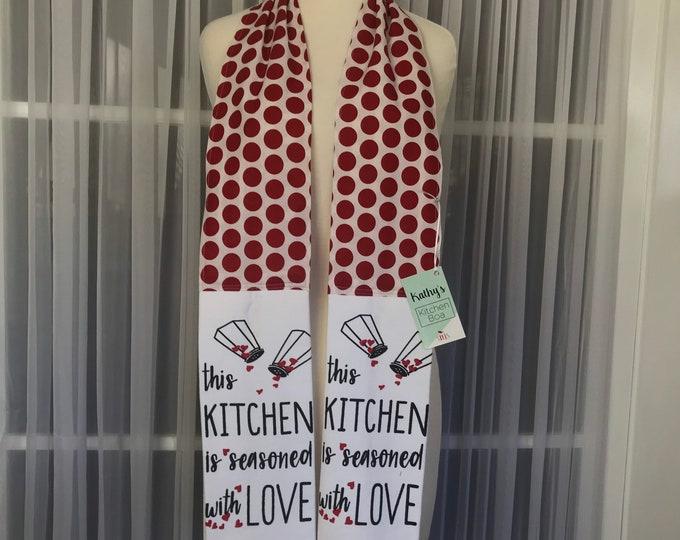 Kathys Kitchen Boa / Kitchen boa /Kitchen scarf /Kitchen towel /Kitchen gift /SewMammaSew Kitchen Boas/Thanksgiving