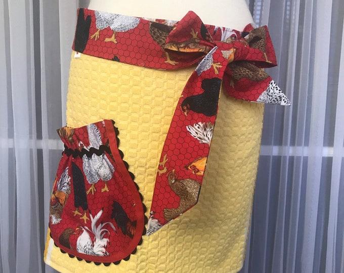 Kathys Kitchen towel Half apron /SewMammaSew Apron /Hostess Apron /Gift Apron /Towel Apron /Towel Half apron /Apron