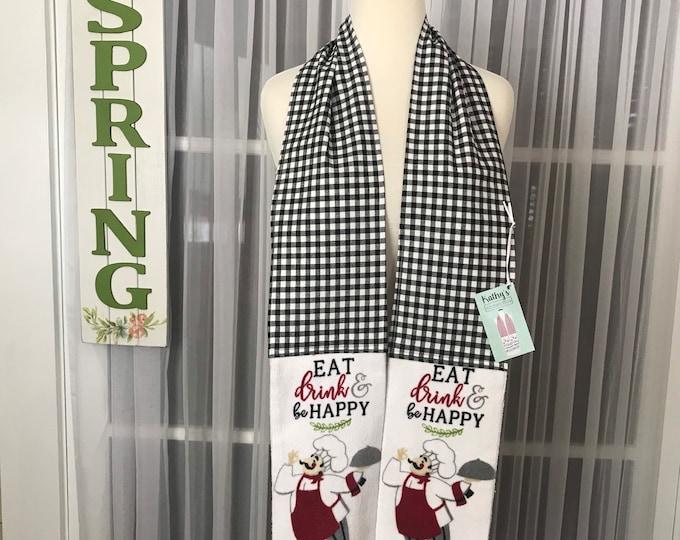 Kathys Kitchen Boa / Kitchen boa /Kitchen scarf /Kitchen towel /Kitchen gift /SewMammaSew Kitchen Boas/