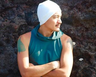Men's Beanie Hat - Unisex - Natural Color Organic Cotton Hemp Fleece - Eco Friendly - Organic Clothing
