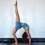 Women's Yoga Shorts - Stone Blue Jersey - Eco Friendly - Organic Clothing - Several Colors Available
