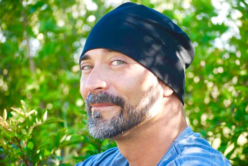 Men's Mauka Hat  Black  Beanie  Hat   Organic Clothing image 0