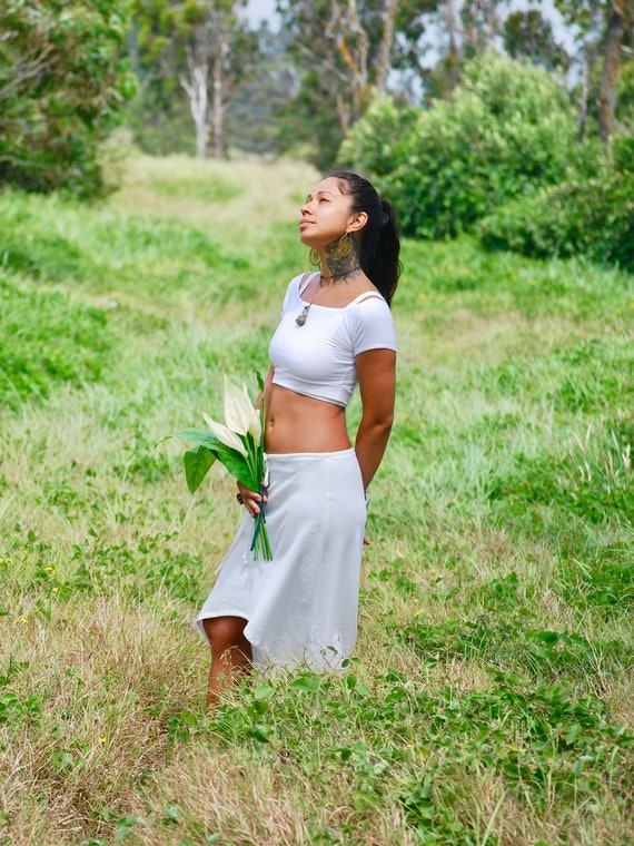 a5d10f1c0315c Off Shoulder Crop Top Eco Friendly Organic Clothing