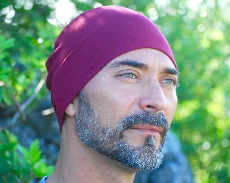Men's Mauka Hat  Red Wine  Beanie  Hat   Organic image 0