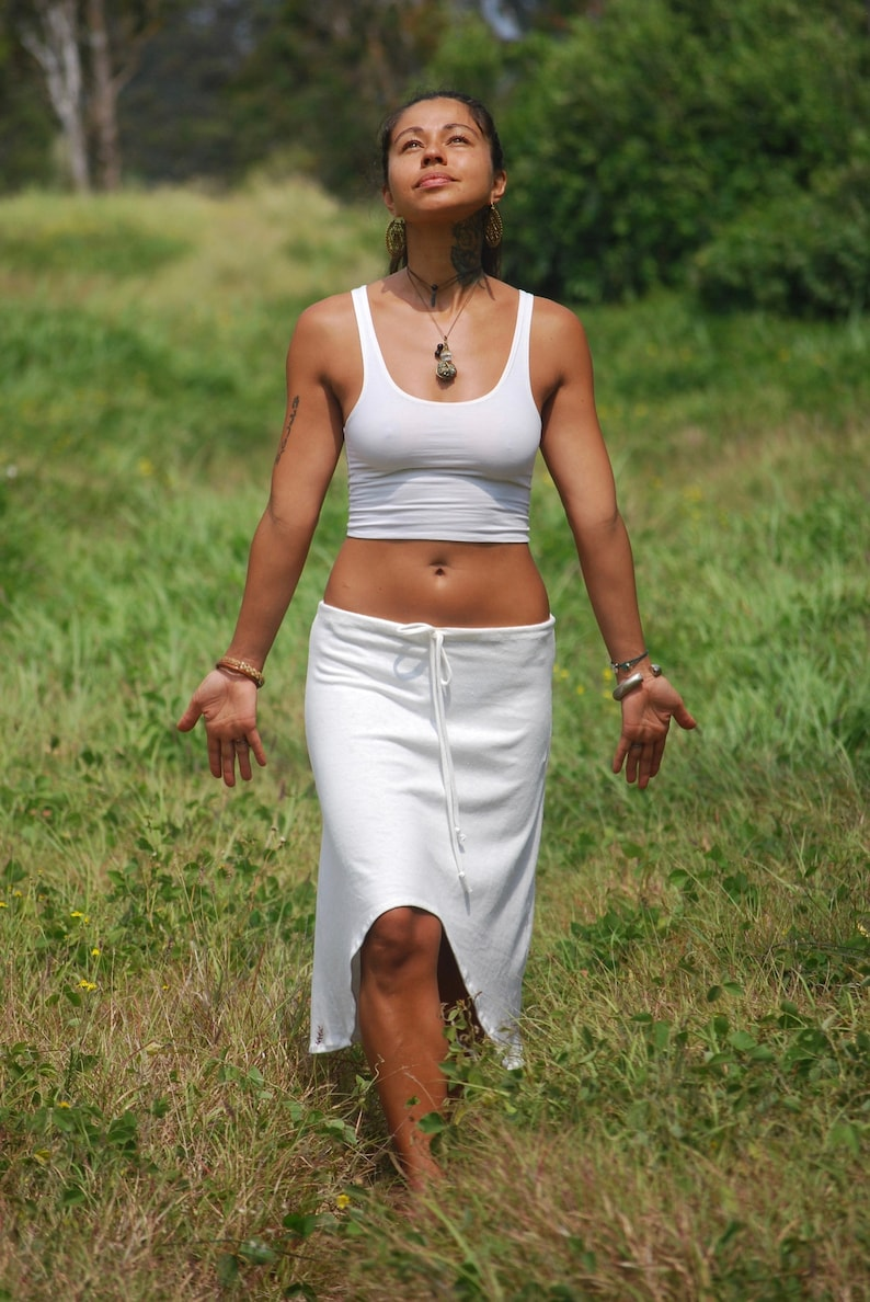 Cropped Yoga Layering Tank Top for Women  Vanilla White  Eco image 0