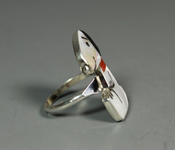 Zuni Snoopy Ring size 7 MOP Coral Shenel Comosona… - image 2