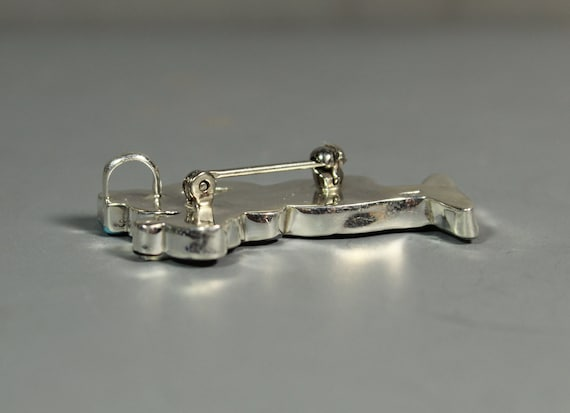Zuni GOOFY Pin Pendant Paula Leekity inlay Zunito… - image 4