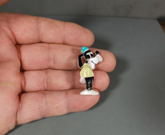 Zuni GOOFY Pin Pendant Paula Leekity inlay Zunito… - image 6