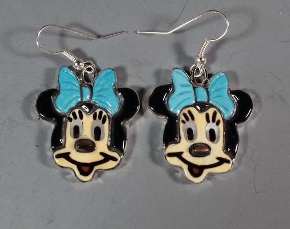 Minnie Mouse Earrings Zuni Artist Andrea Lonjose S