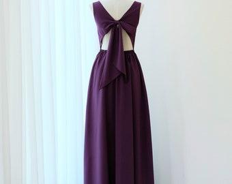 Plum Cocktail Dress