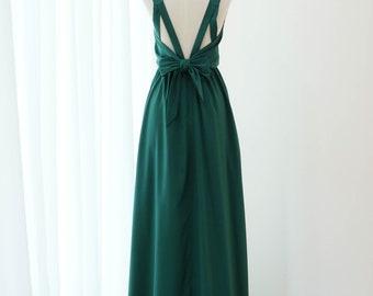 9c2001d33c34 Dark green dress Long Bridesmaid dress Wedding Dress Long Prom dress Party  dress Cocktail dress Maxi dress Evening Gown