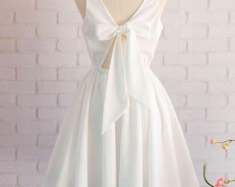 White Cocktail Dresses for Wedding
