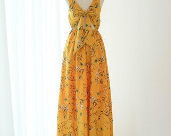Mustard Prom Dress Etsy