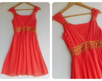 Beautiful Night -  Cocktail Prom Party Dinner Wedding Night Dress - Hand Sewn Crystal Beads