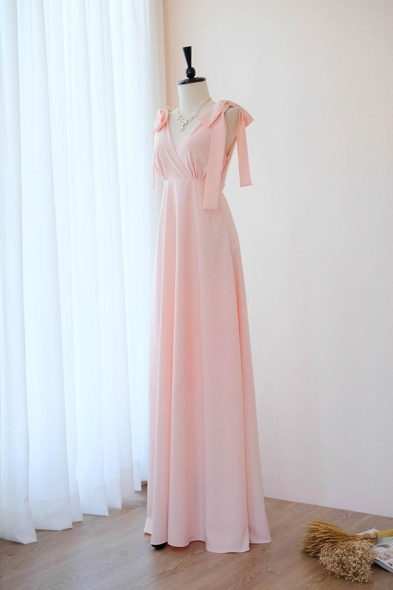 10163d7c30fd62 Roze jurk roze blos lange bruidsmeisje jurk trouwjurk bruids
