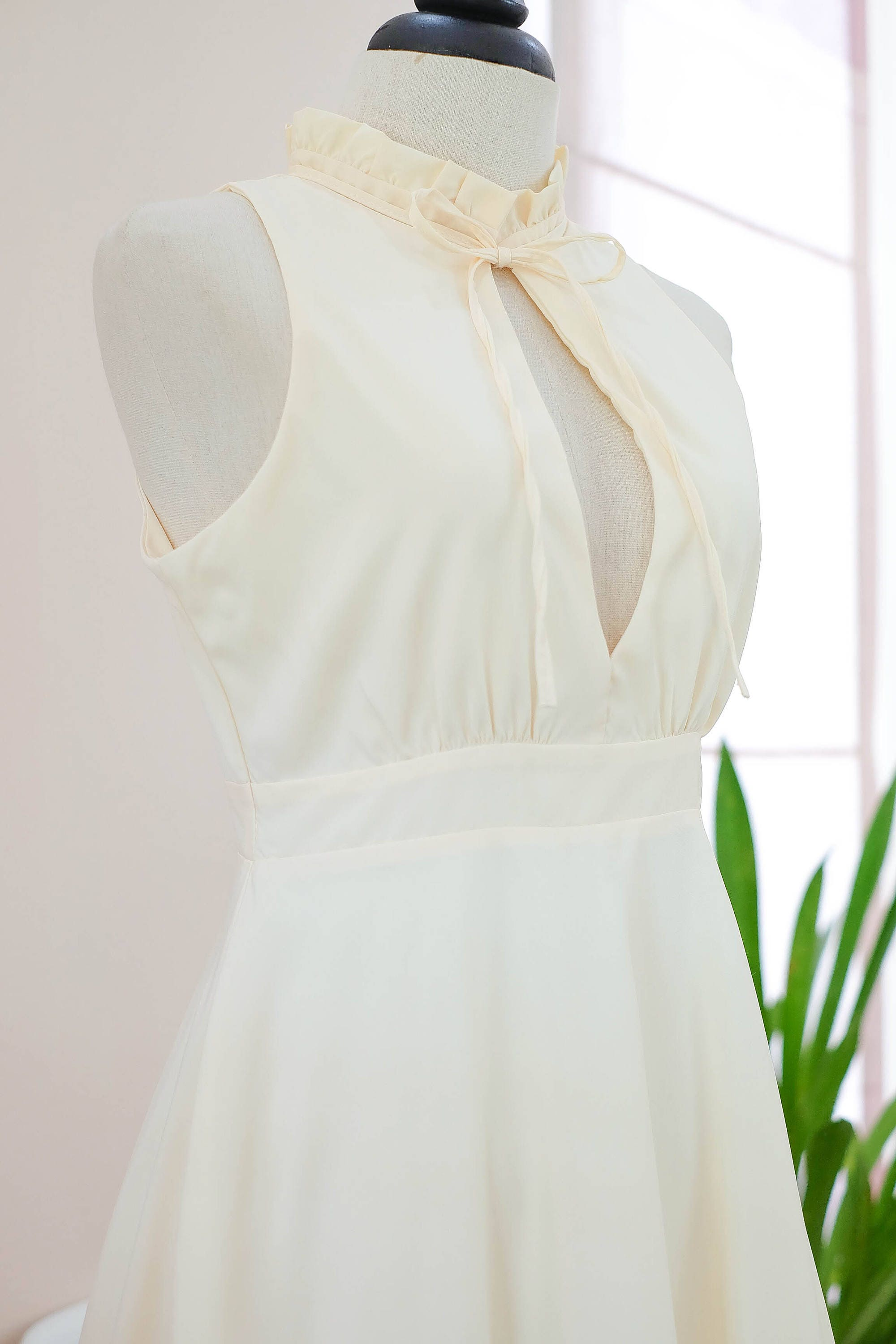 Yellow bridesmaid dress pale yellow prom dress butter party