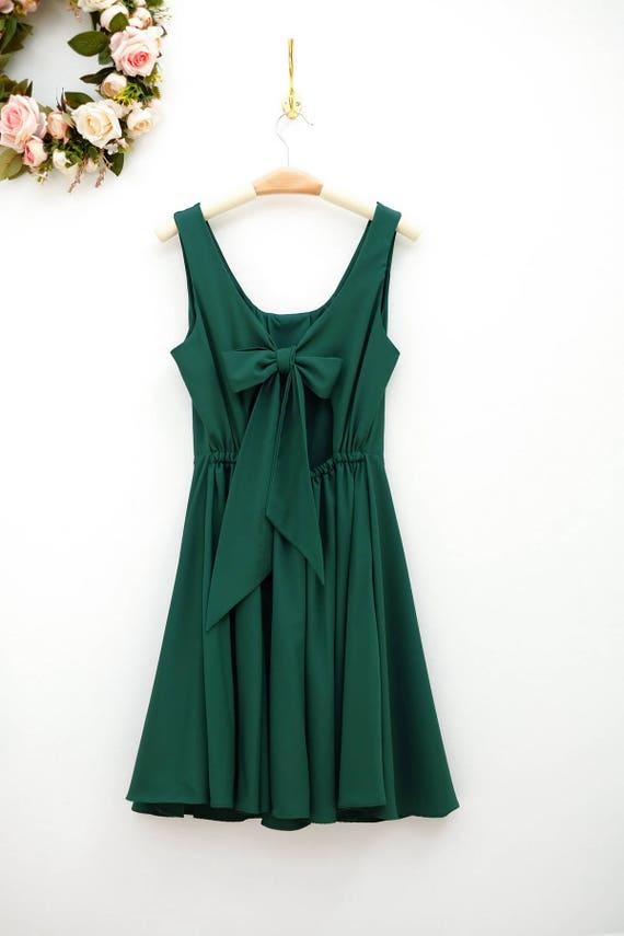 Wald Grün Kleid Weihnachten grün Brautjungfer Kleid Prom | Etsy