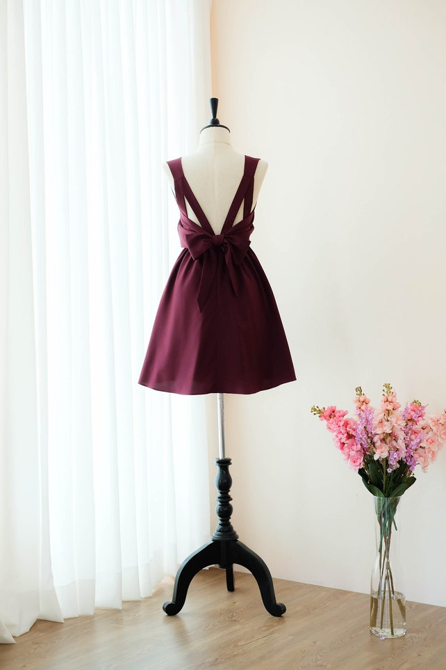 Maroon Red Bridesmaid dresses Prom dress Formal dress cocktail | Etsy