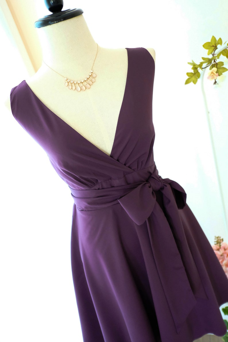 203fbd45e6b0 Vintage Plum Bridesmaid Dresses – DACC