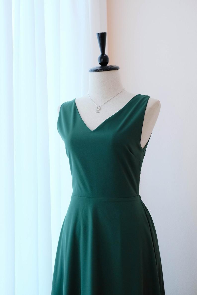 0e8dfab54901 Foresta verde vestito abiti da damigella lunghi foresta verde