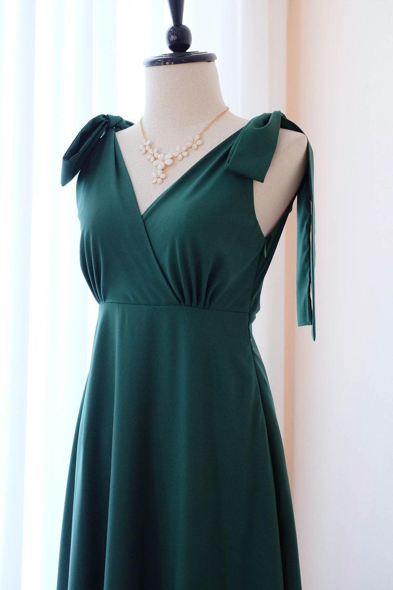 3bc901ee8266 Foresta verde vestito lungo verde abiti da damigella Abito da