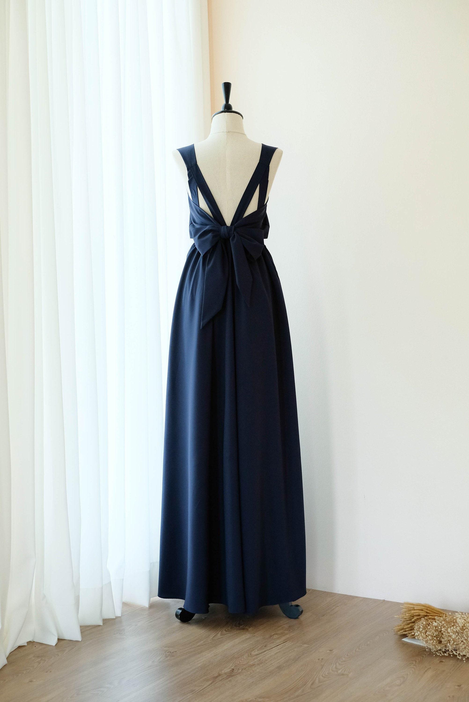 8fa60d68823a Dark Navy dress Prom dress Dark Navy Long Bridesmaid dress   Etsy