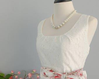 SALE White dress white lace dress white red dress white party dress white bridesmaid dresses floral bridesmaid dresses floral sundress