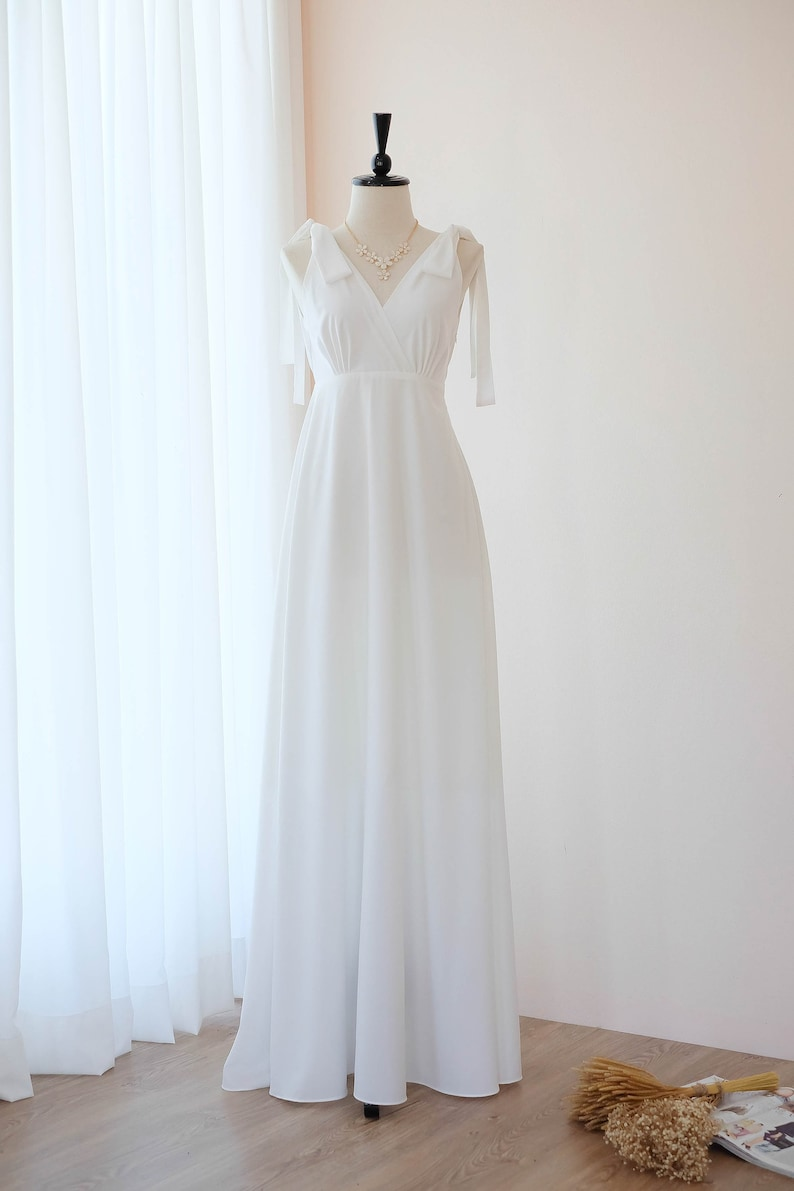 Off White Dress White Long Bridesmaid Dress Wedding Dress Etsy