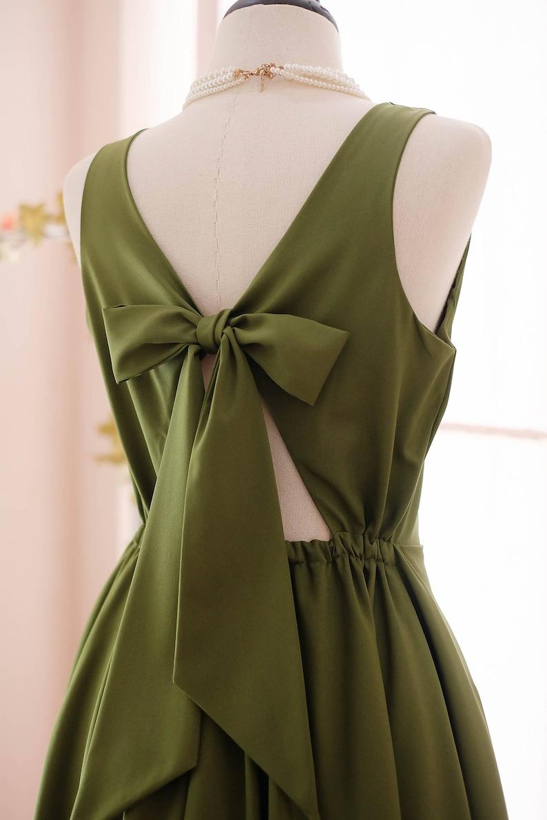 b5e092f86aa Moss Green Dress Green Bridesmaid dress Prom dress Lolita